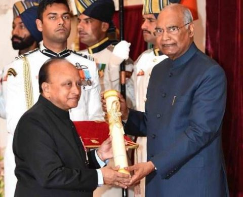 Padma Shri award for Dr Ramanathan V Ramani of Sankara Eye Foundation